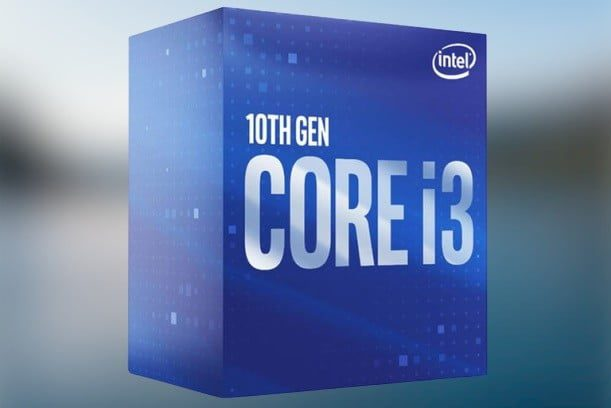 Intel Core i3-10100 package
