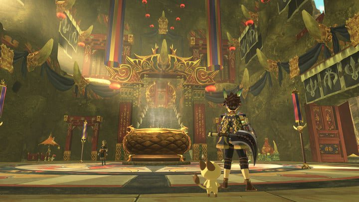 Interior of a large throne room.