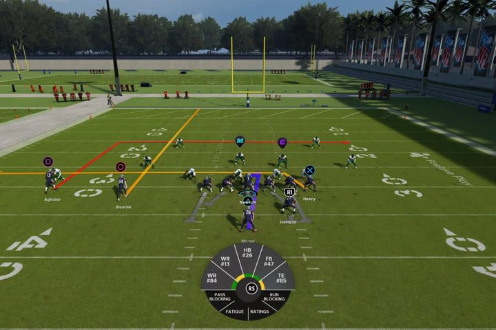 Receiver on a hot route in Madden 22.