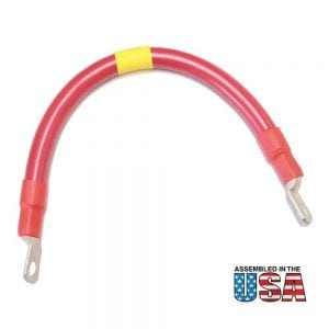 "12"" 2/0 AWG RED BATTERY INTERCONNECT CABLE"