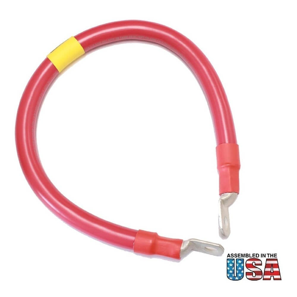 """18"""" 2/0 AWG RED BATTERY INTERCONNECT CABLE"""