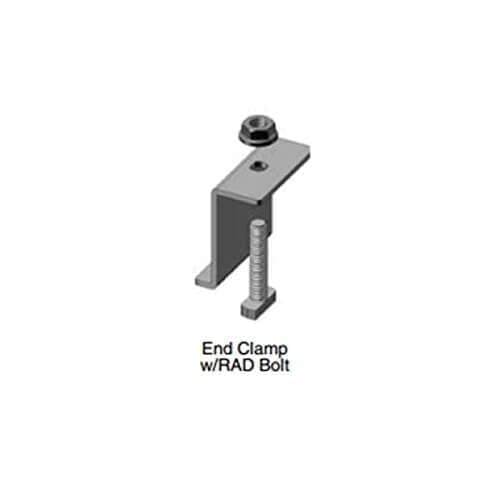 DPW EC-46-RAD-B Solar Panel Clamp Black