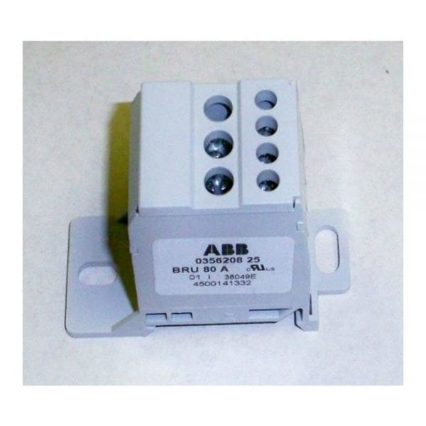 DISTRIBUTION BLOCK SOLADECK 1440.080 3 PRIMARY 4 SECONDARY 80A DIN OR SURFACE MOUNT