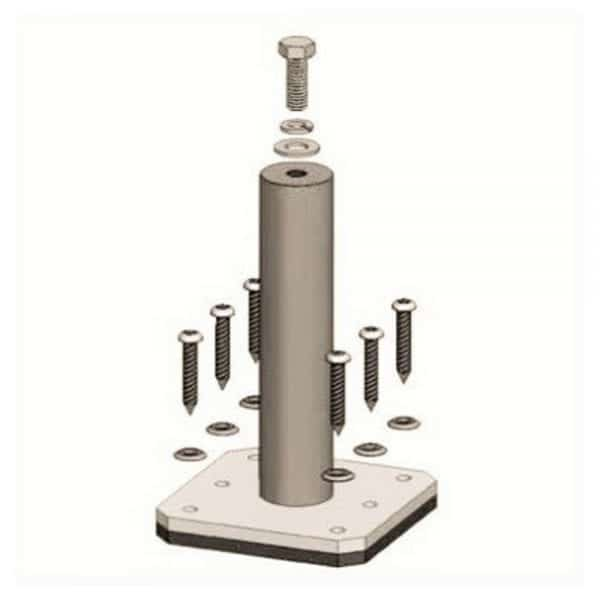 """DPW SOLAR 6"""" EASY POWER POST STANCHION EP6"""