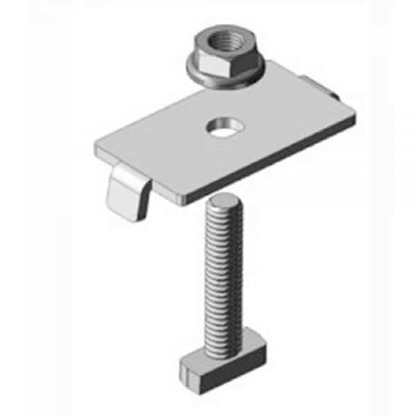 """DPW SOLAR AMP UNIVERSAL MID CLAMP WITH 2"""" STAINLESS STEEL RAD HARDWARE GMC4046RADSS"""
