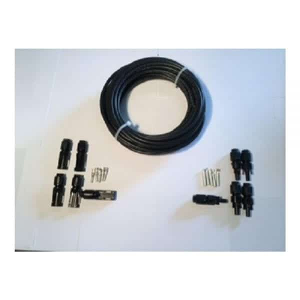 MC4 CONNECTORS AND 50 FT SOLAR CABLE KIT BLACK