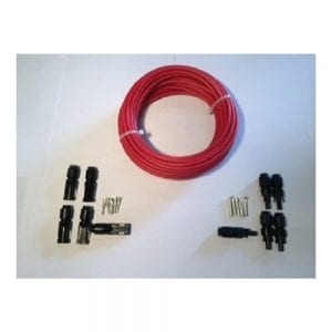 MC4 CONNECTORS AND 50 FT SOLAR CABLE KIT RED