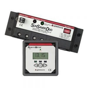 MORNINGSTAR SUN SAVER DUO 25 AMP CHARGE CONTROLLER WITH REMOTE METER