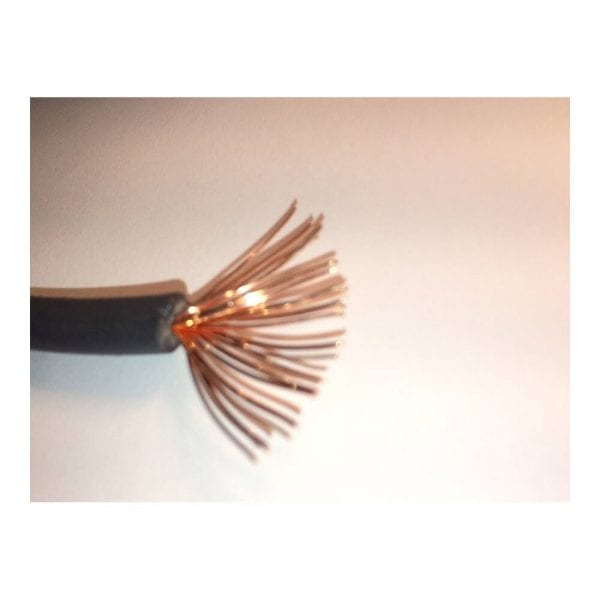 SOLAR CABLE BLACK BULK #10 COPPER WITH XLPE INSULATION 1000 VDC 19 STRANDS