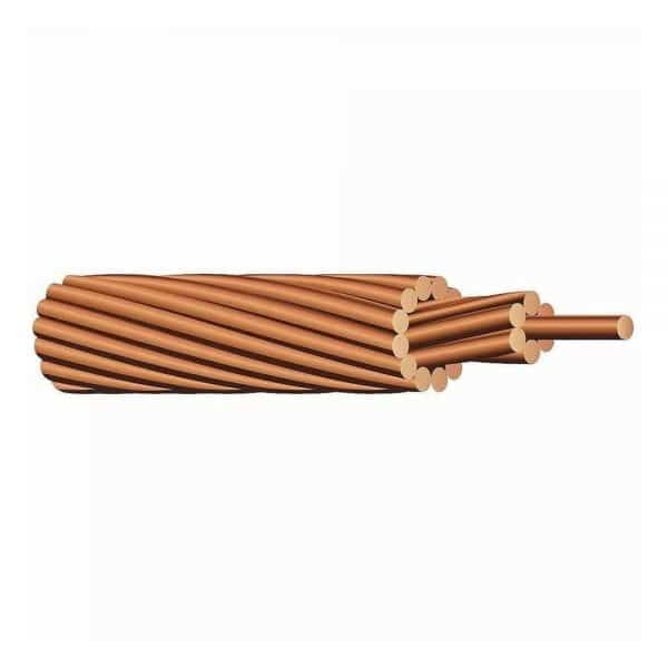 SOLAR PANEL GROUND WIRE STRANDED BARE COPPER 6 AWG 50'