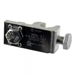 "SOLAR PANEL GROUNDING BONDING LUG BY WILEY ELECTRONICS, WEEB GROUNDING LUG WITH 1/4"" MOUNTING HARDWARE WEEB-LUG-6.7 2"