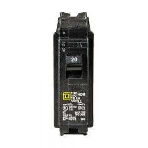 Homeline 20 Amp Single-Pole Circuit Breaker