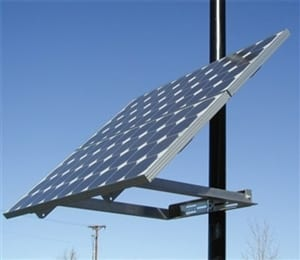 DPW solar side of pole mount