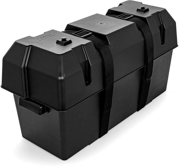 Heavy Duty Dual Battery Box Long Style with Straps