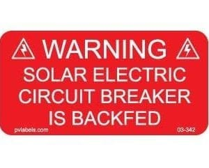solar warning label