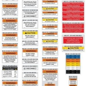 VALUE PACK SOLAR LABEL KITS